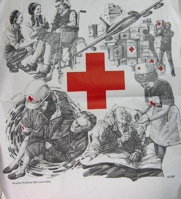 poster advertising the work of the British Red Cross Society