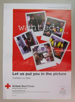 poster appealing for volunteers