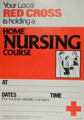 general poster for advertising a Home Nursing course
