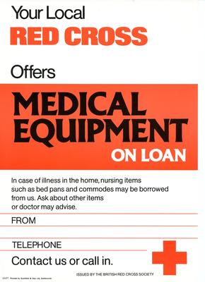 general poster for advertising Medical Equipment loan service