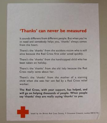 general poster advertising the services of the British Red Cross Society