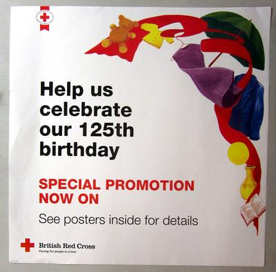 poster advertising a promotion held by Red Cross shops