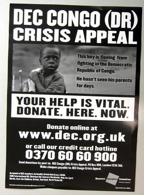 DEC Congo (DR) Crisis Appeal poster
