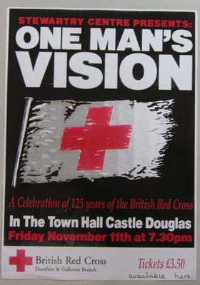 poster advertising One Man's Vision