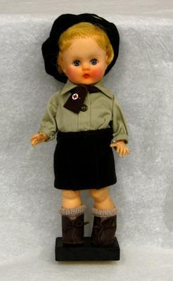 female doll dressed in Red Cross uniform of Belgium Red Cross