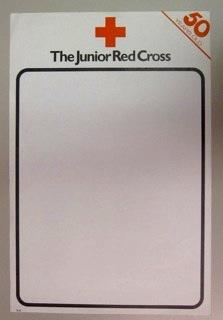 Blank poster promoting 50 years of the Junior Red Cross