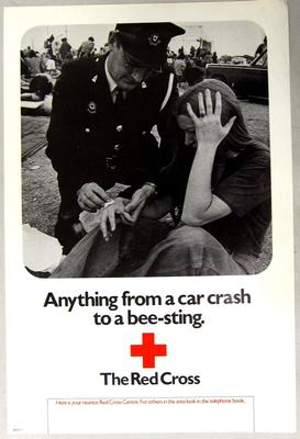 Poster promoting first aid at events