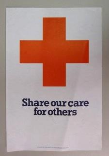 Poster promoting the British Red Cross Society