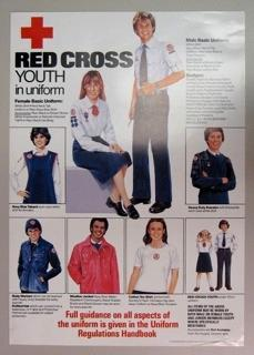 Poster promoting Red Cross Youth uniform