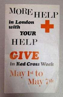 Poster promoting Red Cross Week in London