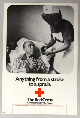 Poster promoting the British Red Cross
