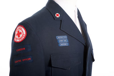 Uniform worn by Vernon Burgess, British Red Cross volunteer