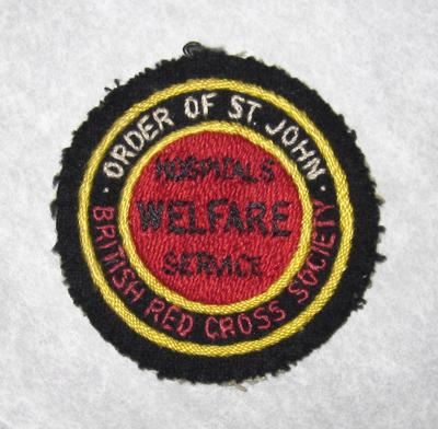 cloth badge: Hospitals Welfare Service
