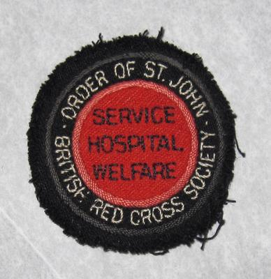cloth badge: Service Hospital Welfare; Uniforms/insignia; 2865/4