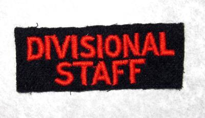 cloth flash: Divisional Staff