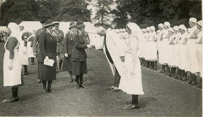 Photograph of an Inspection by Mary, Princess Royal; RCB/2/12/5/12