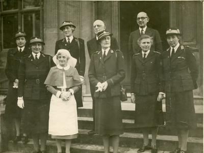 Photograph from a Visit by the President of the Oxfordshire Branch; RCB/2/12/5/21