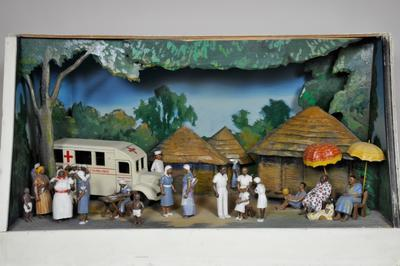 Diorama featuring a Mobile Maternity and Child Welfare Clinic