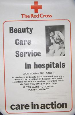 poster advertising the beauty care service