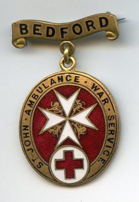 St John Ambulance War Service badge