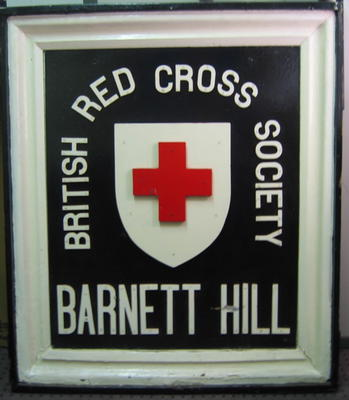 Sign from gates at Barnett Hill.