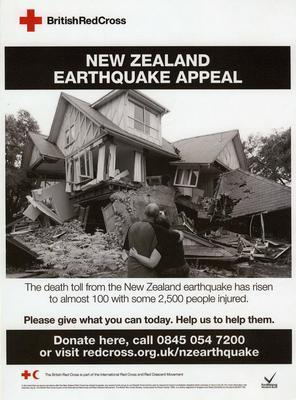 Fundraising poster for the New Zealand Earthquake Appeal, 2011
