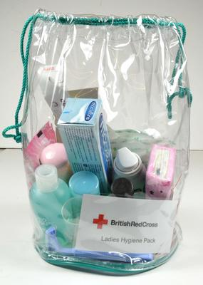 British Red Cross ladies hygiene pack