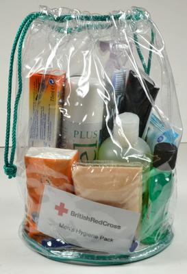 British Red Cross mens hygiene pack