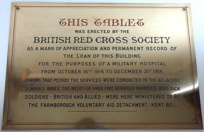 Brass memorial plaque