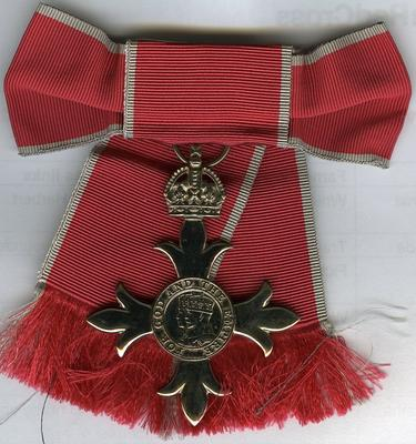MBE medal; Royal Mint; Medals and Badges/medal; 2987/1