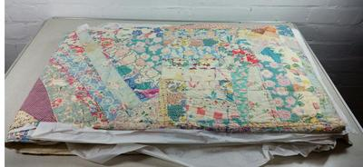 Patchwork quilt made by Prisoners of War during the Second World War
