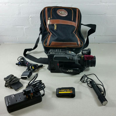 JVC video camera in a carry case