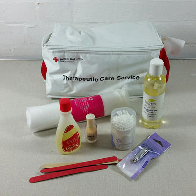 Therapeutic Care Service bag with contents