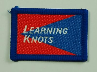 Junior Red Cross Proficiency Badge Learning Knots; British Red Cross; Medals and Badges/badge; 3055/19