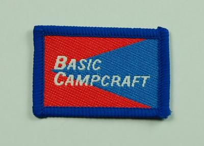 Junior Red Cross Proficiency Badge Basic Campcraft; British Red Cross; Medals and Badges/badge; 3055/20(2)