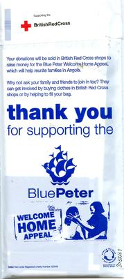 Blue Peter Collection Bag; Fundraising/bag; 3055/69