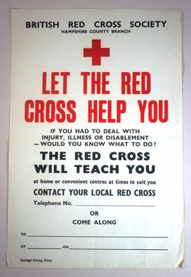 """British Red Cross Society. Hampshire County Branch"""