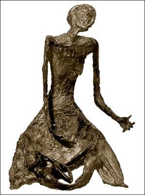 Sculpture entitled 'Famine'