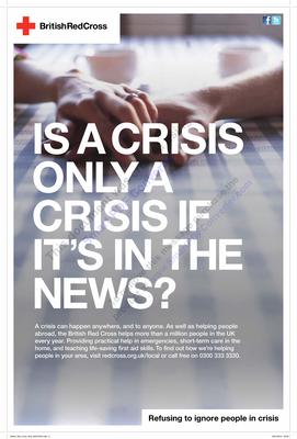 'Is a crisis only a crisis if it's in the news?'