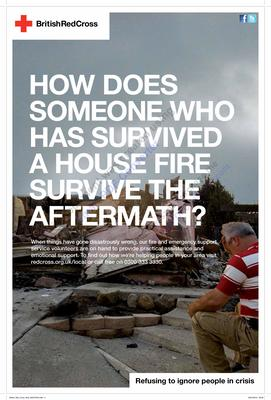 'How does someone who has survived a house fire survive the aftermath?'