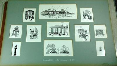 Barnett Hill drawings by John Kennedy, 1973