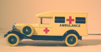 metal/plastic ambulance 'Days Gone' series by Pledo.
