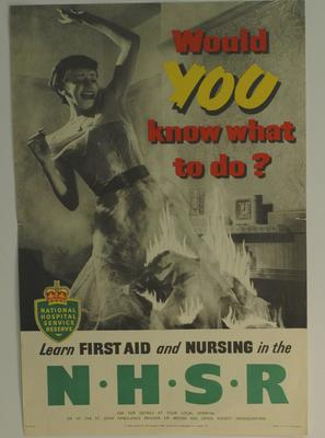 National Hospital Service Reserve (NHSR) poster