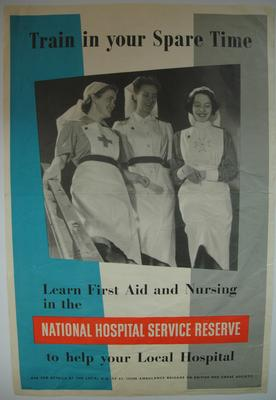 Poster advertisng the National Hospital Service Reserve (NHSR)