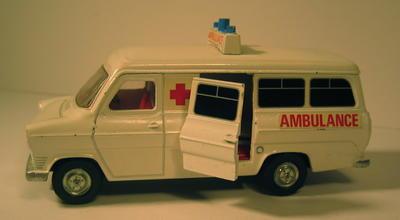 model of a Ford Transit van ambulance