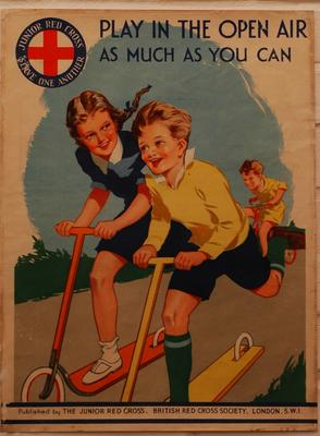 Junior Red Cross poster: Play in the Open Air as much as you can.; Printed Docs (museum)/poster; 458/12(2)
