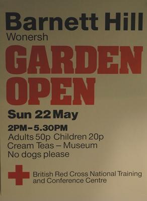 poster advertising an Garden Open Day at Barnet Hill