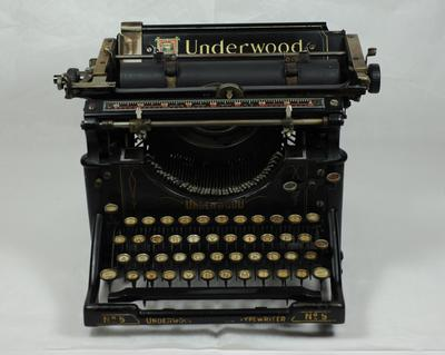 Typewriter: Underwood No 5