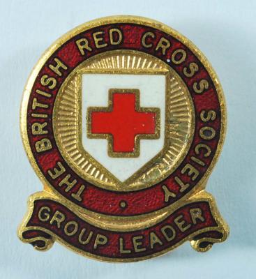 The British Red Cross Group Leader badge