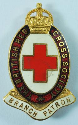 The British Red Cross Society Branch Patron badge
